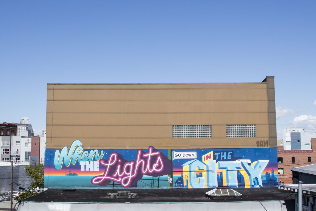 City Lights by 1AM Muralists