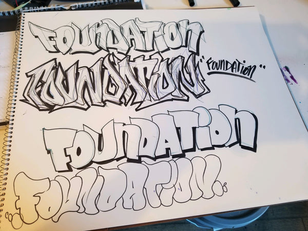 Foundation: Graffiti Letter Style, Aug 17, 1-3pm