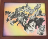"""Untitled (Running dogs)"" - Sanaa Khan"