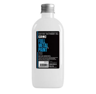 Grog Full Metal Paint 200ml - White