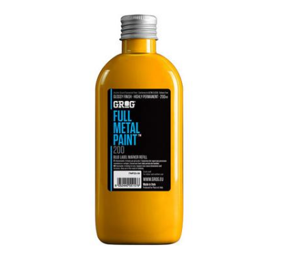 Grog Full Metal Paint 200ml - Yellow