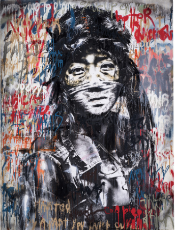 """Longest Winter"" Hand-Embellished Print by Eddie Colla"