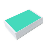 50 Teal Blanks by Blankslaps