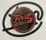 First Amendment Orange Logo Enamel Pin