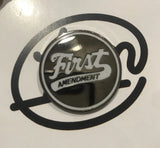 First Amendment White Logo Enamel Pin
