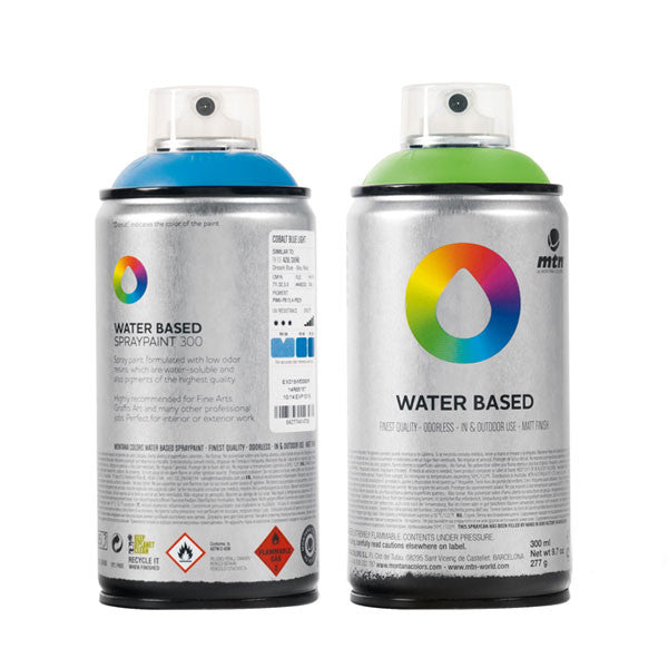 MTN Water Based Spray Paint - Semi Transparent Black