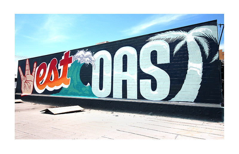 West Coast Print by 1AM Muralists