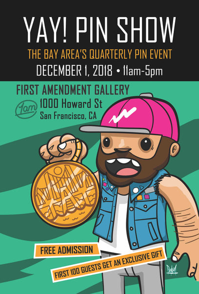 YAY! Pins Show, 12/1/2018 Event, Winter Vendor Pass