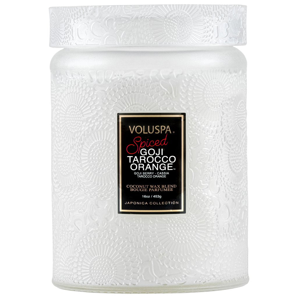 SPICED GOJI TAROCCO ORANGE LARGE JAR CANDLE