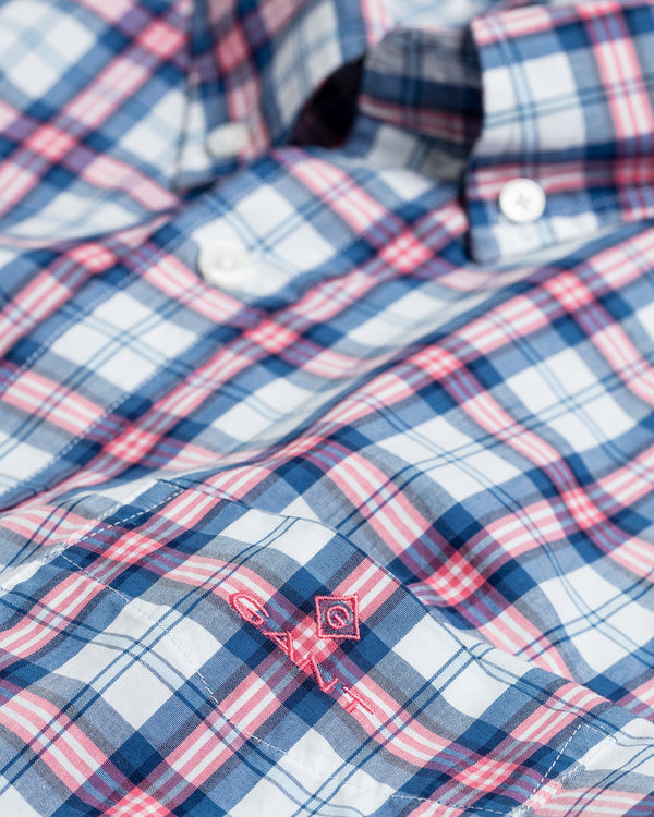 Multi Check Broadcloth Shirt - Rapture Rose