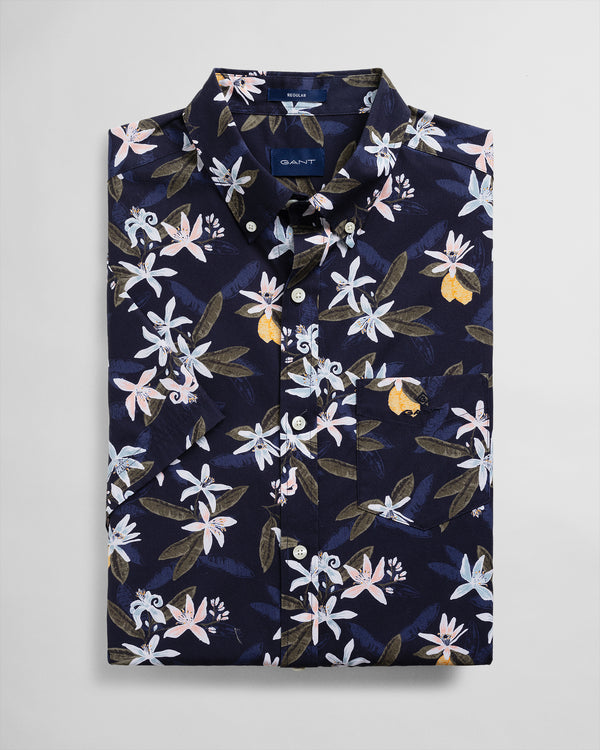 Lemon Flower Print Shirt