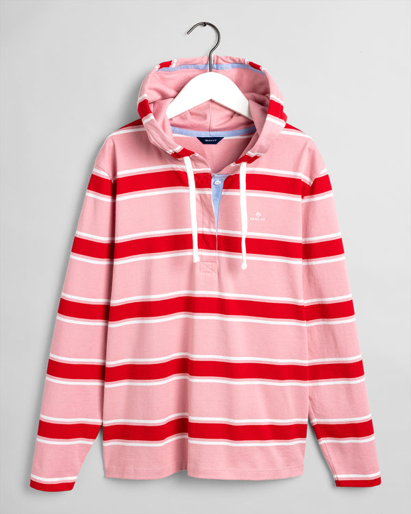 Striped Hoodie - Summer Rose