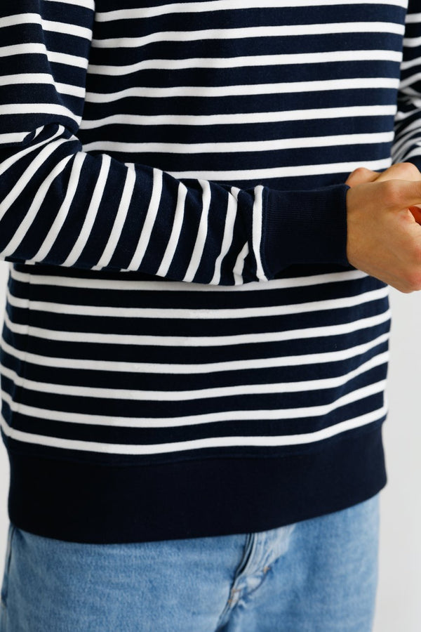 ORTC Striped Crew - Navy & White
