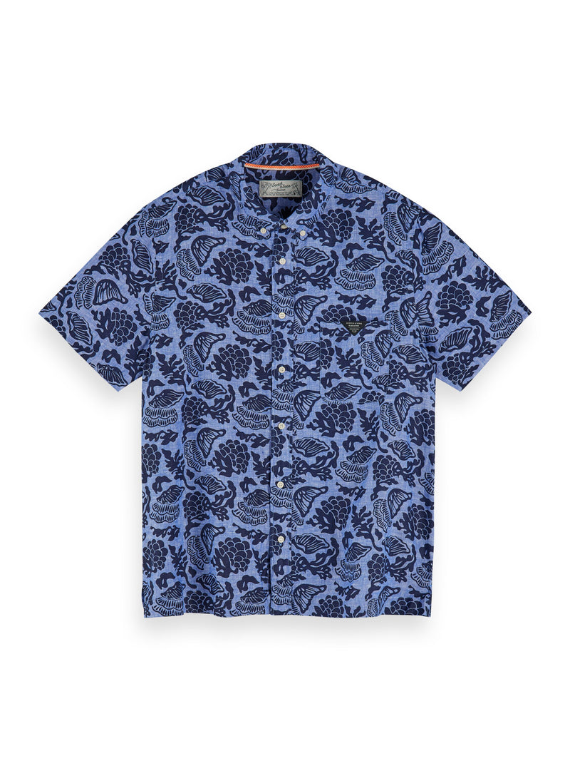 Short sleeved printed shirt | Regular fit - 155249