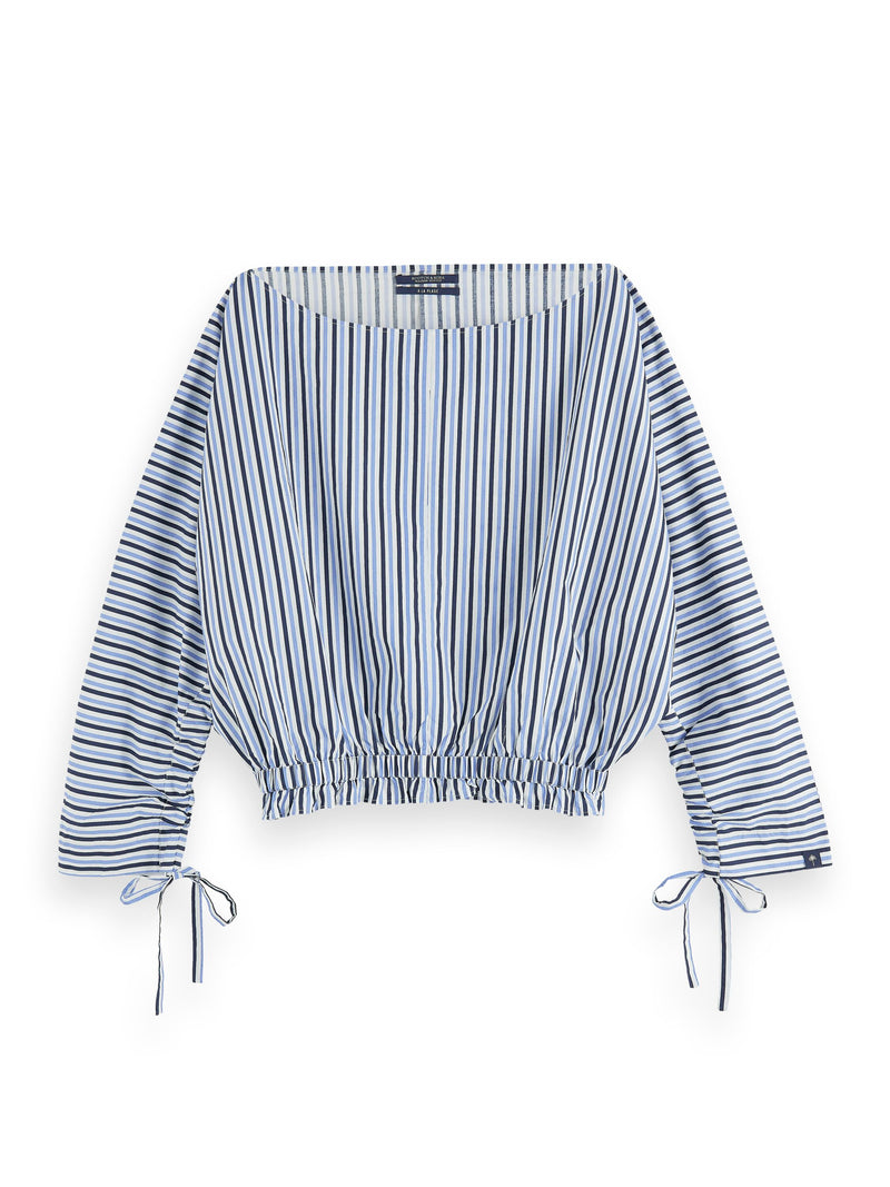 Striped Boat Neck Top 55911