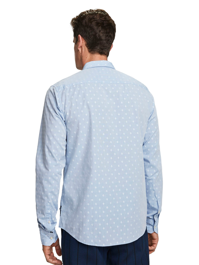 Regular Fit Jacquard Pocket Shirt - 155168