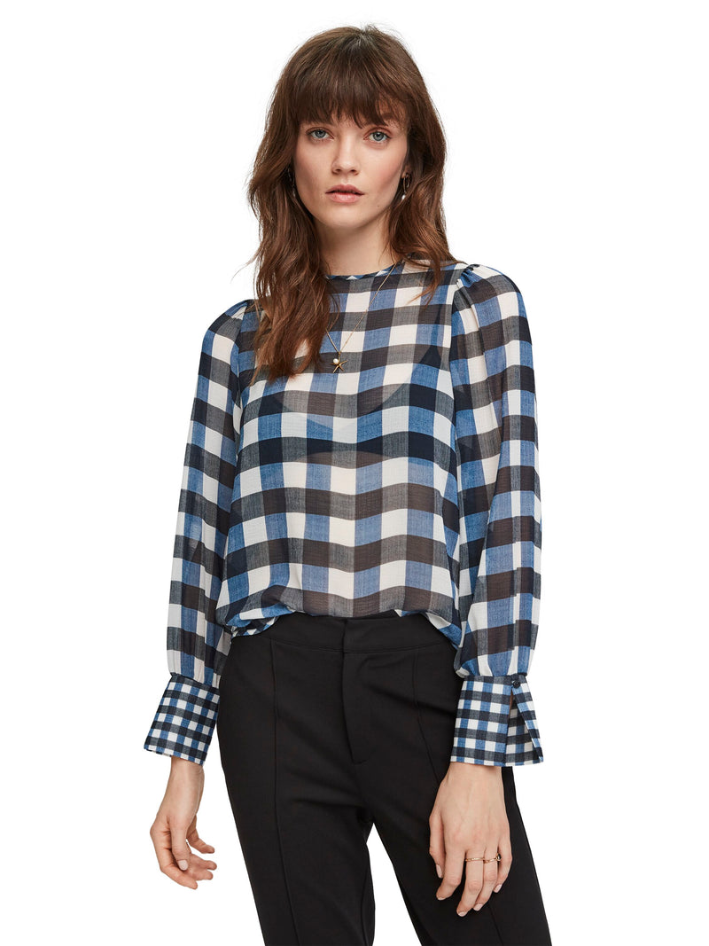 Sheer Checked Top - 155918