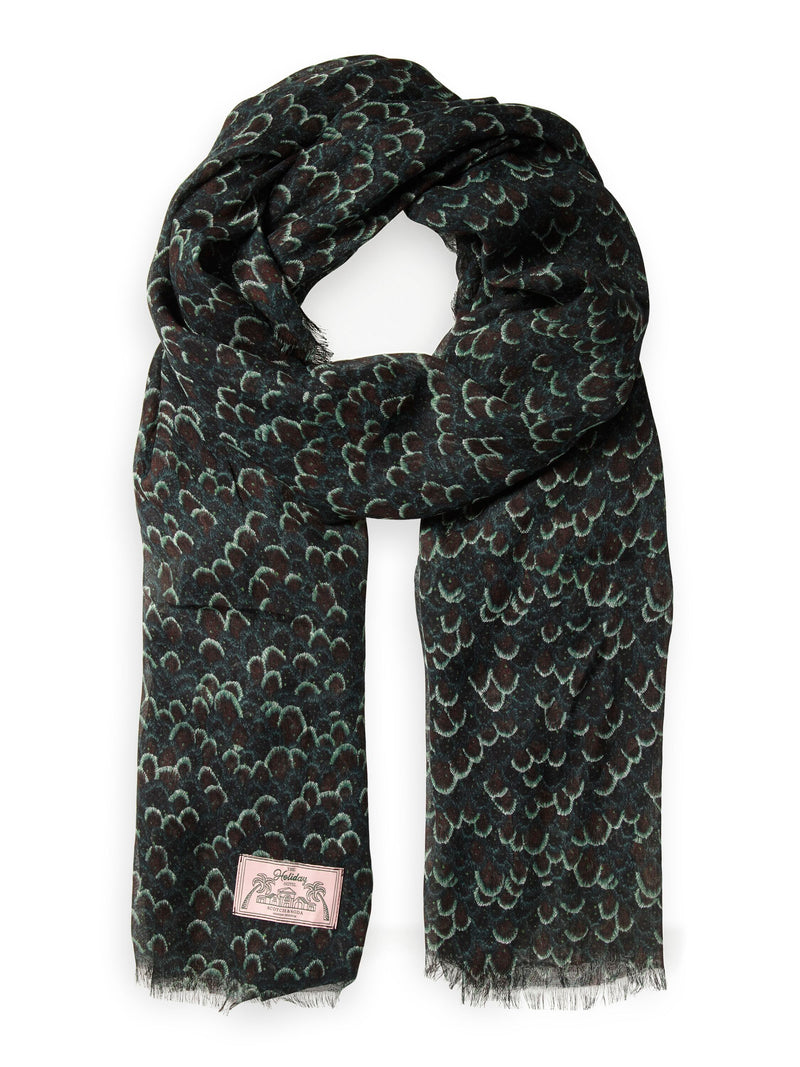 Printed Lightweight Scarf - 156315