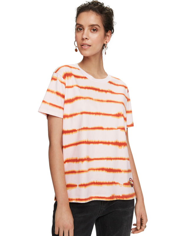 Oversized Fit Tee with Tie Dye - 157450