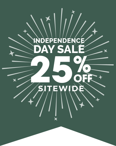 Independence Day Sale - 25% Off Sitewide