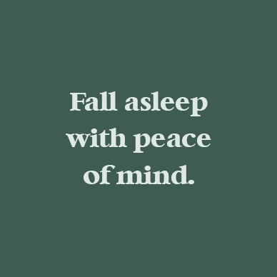 fall asleep with peace of mind