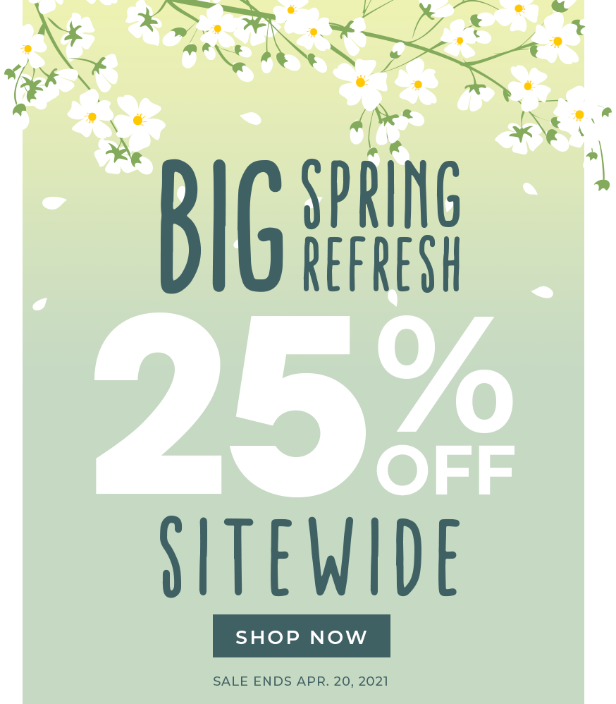 Brooklyn Bedding Spring refresh sale, 25% off sitewide, sale ends April 20, 2021