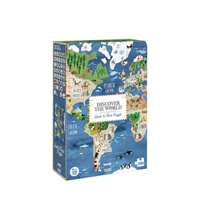 Puzzle Discover the world -Atlas-