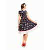 Clio Navy Venice Print Swing Dress Lindy Bop