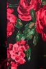 Red & Green Roses Floral Tea Dress - Lady vintage London knee length