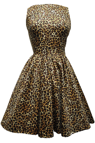 Leopard Print Tea Dress