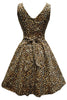 Leopard Print Tea Dress Lady London Vintage knee length