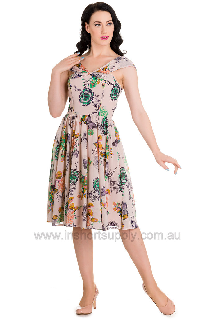 Marilyn Dress Hell Bunny Vintage Floral Butterfly print