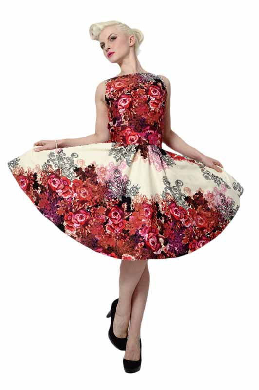 Floral collage Tea dress