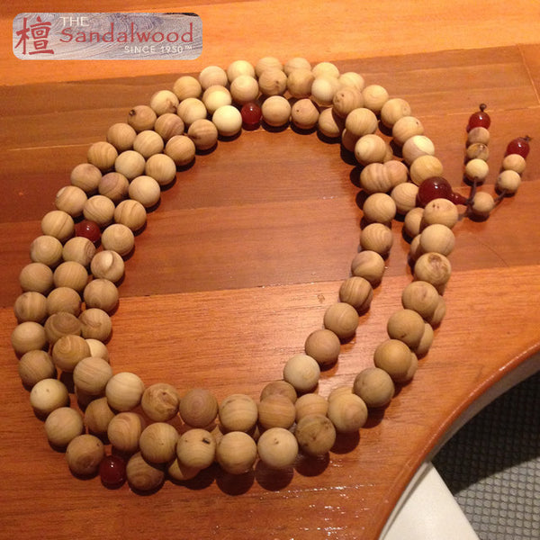 纯天然檀香木佛珠108颗<br>Pure Sandalwood Beads 108pcs<br>6mm - 20mm
