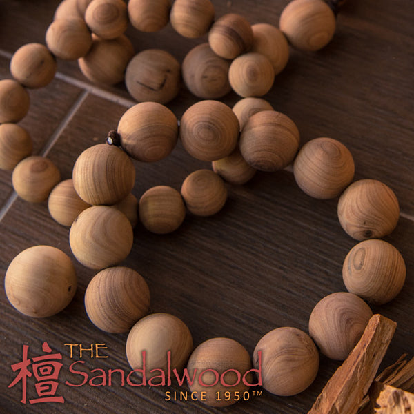 纯天然檀香木佛珠手链<br>Pure Sandalwood Beads Bracelet<br>8mm - 20mm