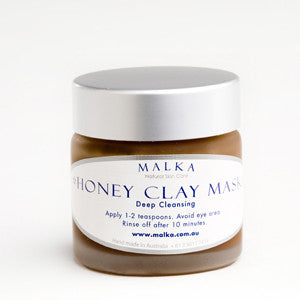 Natural skin care by malka  - for the face - honey clay deep cleansing mask 100g