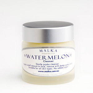 Natural Skin Care by Malka - for the face  - Watermelon Organic Jojoba Cleanser