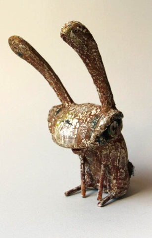 Sitting Rabbit sculpture by Vaidas
