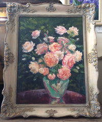 Roses By The Window, Olene Simon original artwork