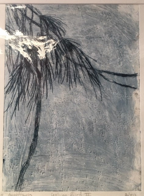 Coolum bird, Acetate etching 2/12, Janet Hayes