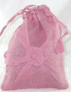 Sweet Cinnamon Scented Sachet, pink cotton