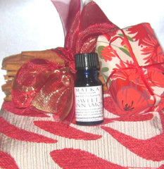 Wheat Bag (small, single panel) with Sweet Cinnamon Mini Bundle, Oil 10ml & Lemon Myrtle Soap