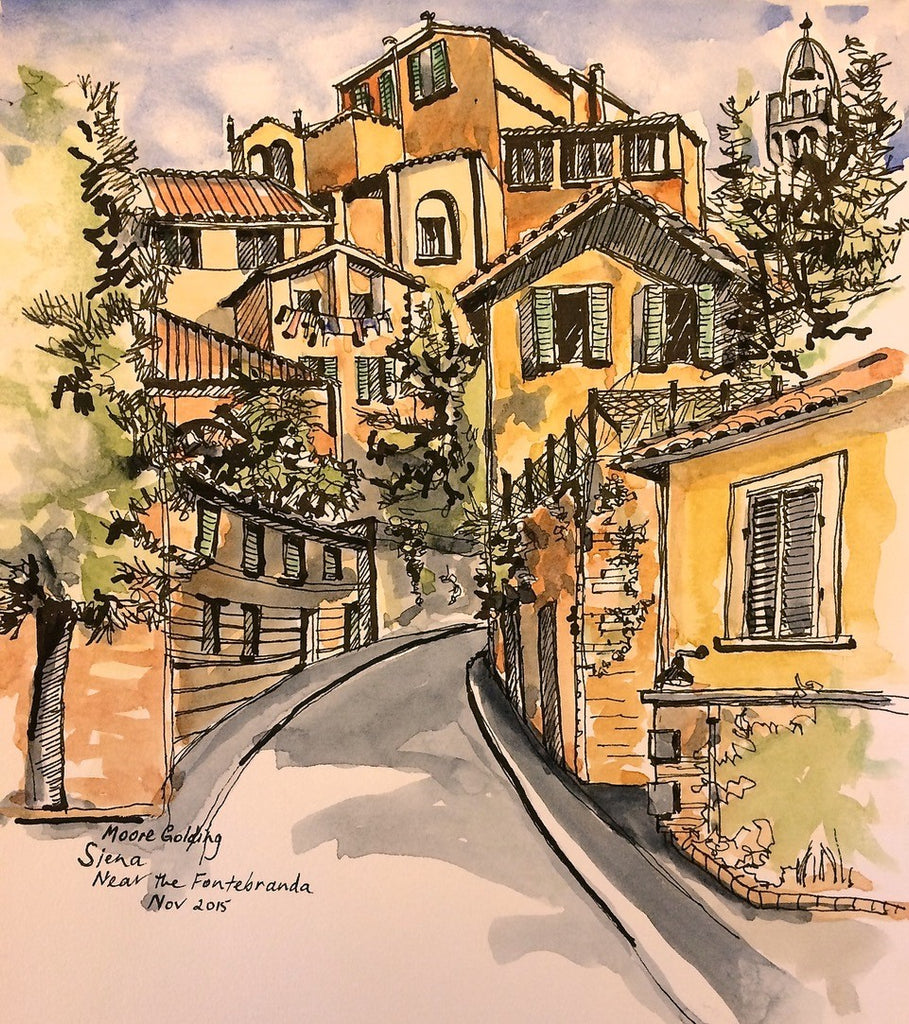 Siena, near the Fontebranda 2015 Elizabeth Moore Golding