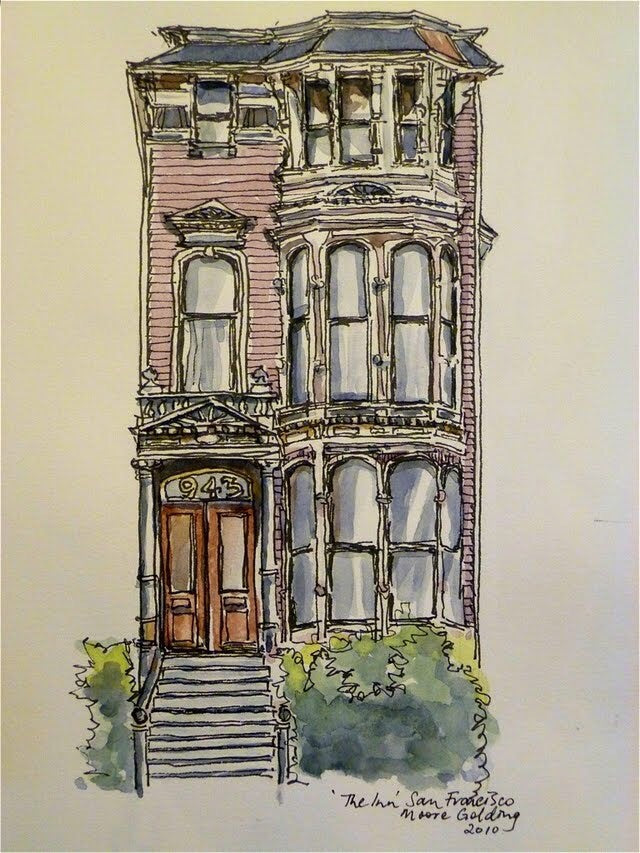 'The Inn' San Francisco 2010 Elizabeth Moore Golding Original Artwork