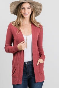 SOFT SOLID CARDIGAN