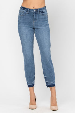 JUDY BLUE BOYFRIEND STRAIGHT CROP DENIM