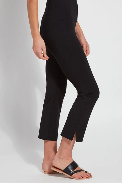 LYSSE BLACK CROPPED KICK FLARE