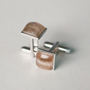 Open image in slideshow, pet's hair gem in cufflinks