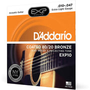 D'Addario Acoustic Guitar Strings - Exp 80/20 Xlite EXP10