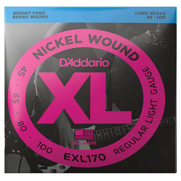 D'ADDARIO Bass Strings XL 45-100 Long - EXL170